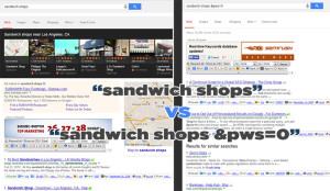 Google and Matt Cutts solution to personalized search engine results - &pws=0