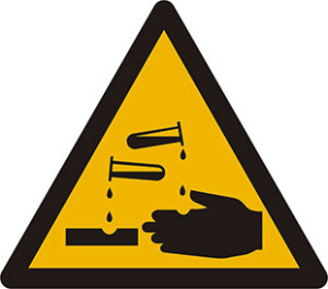 Chemical Warning Sign for Acids