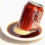 Coca-Cola and other colas are acidic and can actually be used to clean toilet bowls