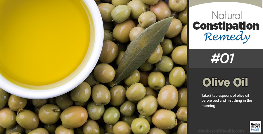 Olive oil works as a fantastic natural remedy to relieve constipation
