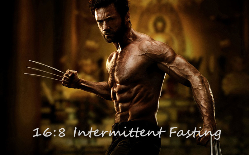 Hugh Jackman as X-Men character Wolverine - Poster child for intermittent fasting